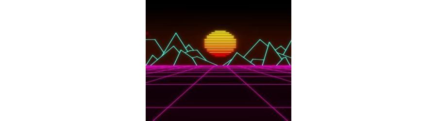 Retro Sunset Grid Live Wallpaper